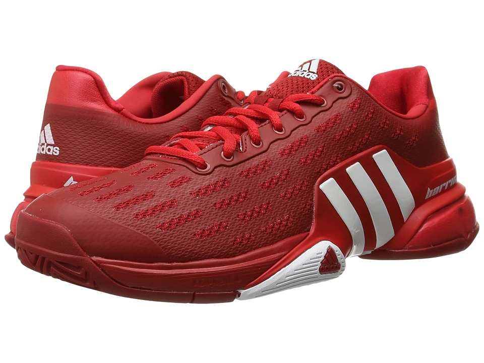 adidas - Barricade 2016 (Power Red/White/Ray Red) Men's Tennis Shoes