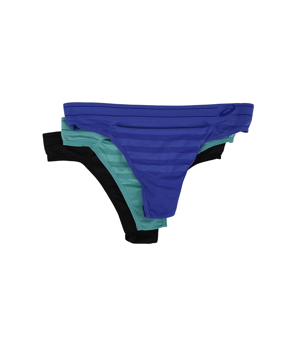 ASICS - ASX Thong 3-Pack (Royal Blue Assorted) Women's Underwear