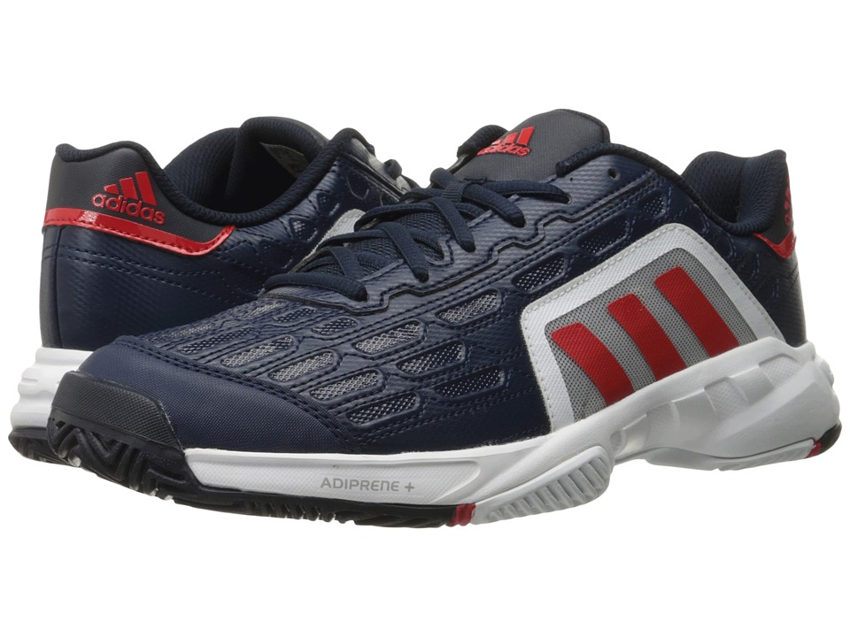 adidas - Barricade Court 2 (Collegiate Navy/Vivid Red/White) Men's Tennis Shoes