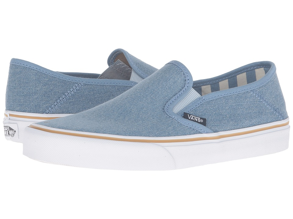 Vans - Slip-On SF (Light Denim/Stripes) Women's Skate Shoes