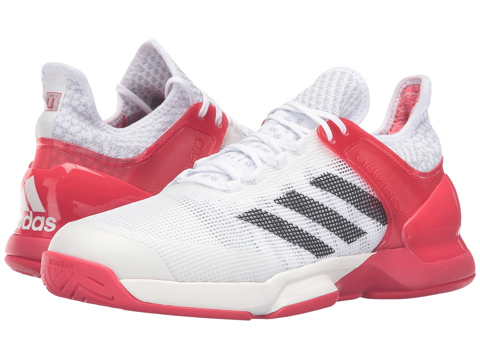 adidas - Adizero Ubersonic 2 (White/Black/Red Ray) Men's Tennis Shoes