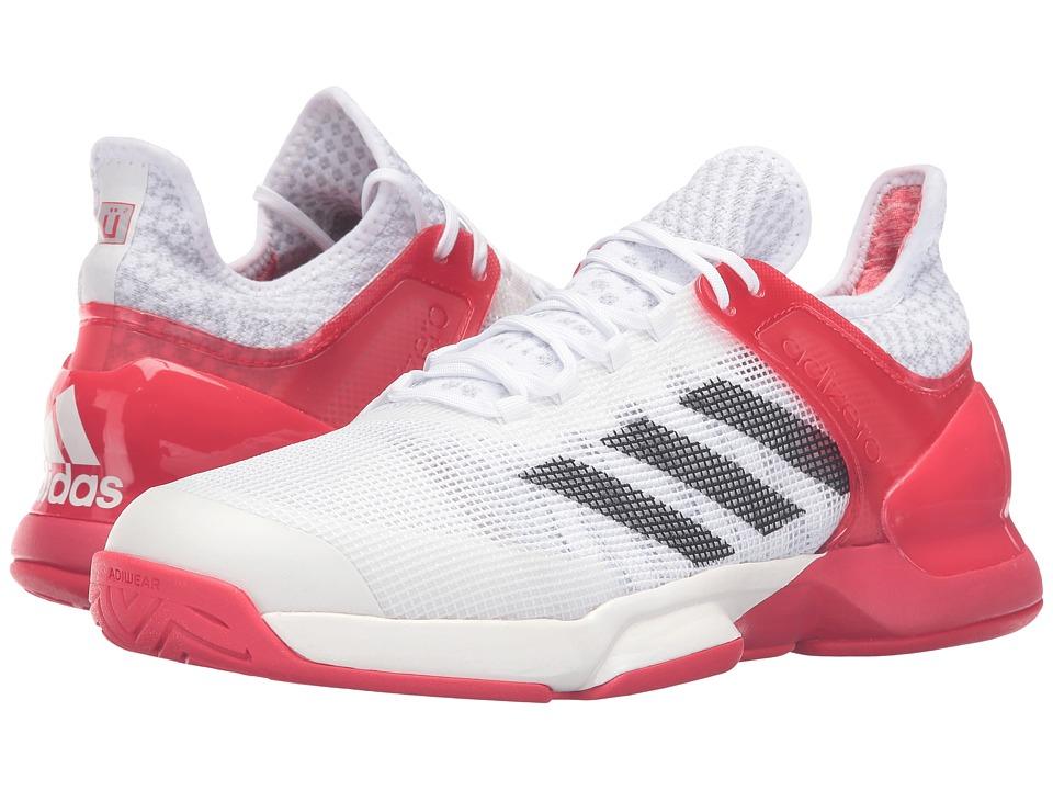 adidas - Adizero Ubersonic 2 (White/Black/Red Ray) Men's Tennis Shoes