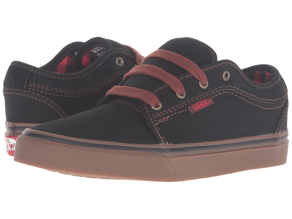 Vans Kids - Chukka Low (Little Kid/Big Kid) ((Buffalo Plaid) Black/Gum) Boys Shoes