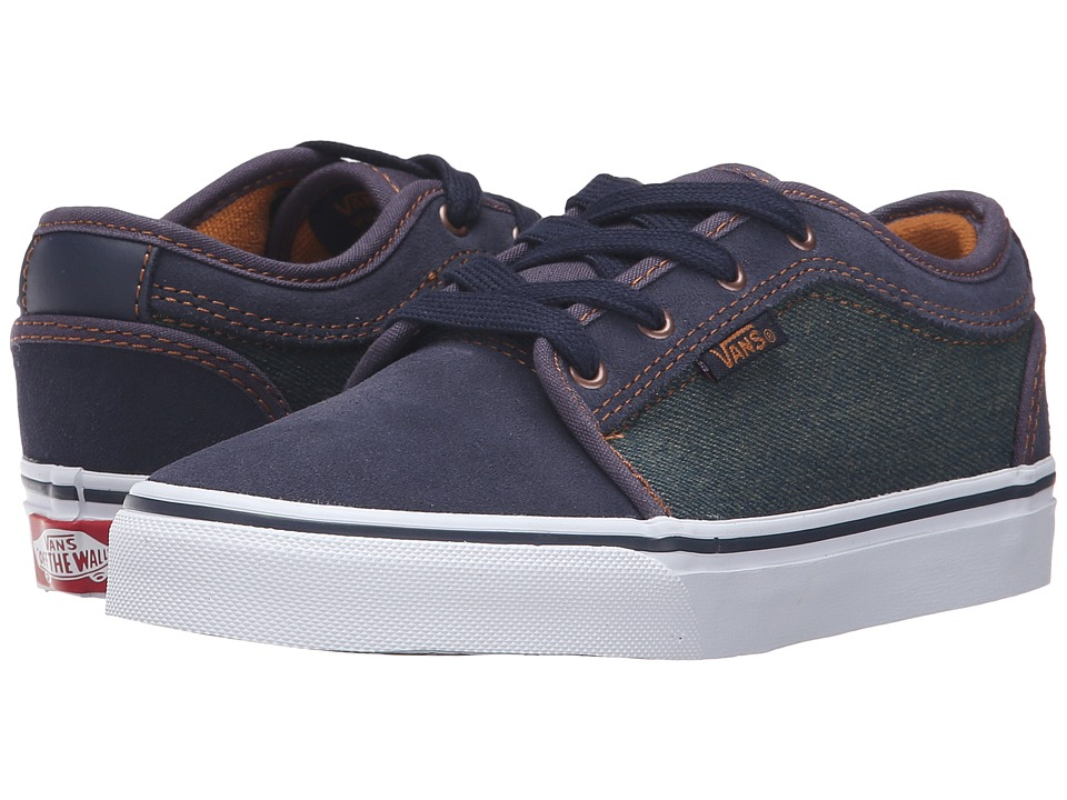 Vans Kids - Chukka Low (Little Kid/Big Kid) ((Denim) Navy/Bronze) Boys Shoes
