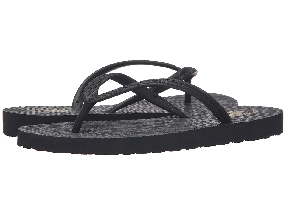 Vans - Hanelei (Black Leopard) Women's Sandals