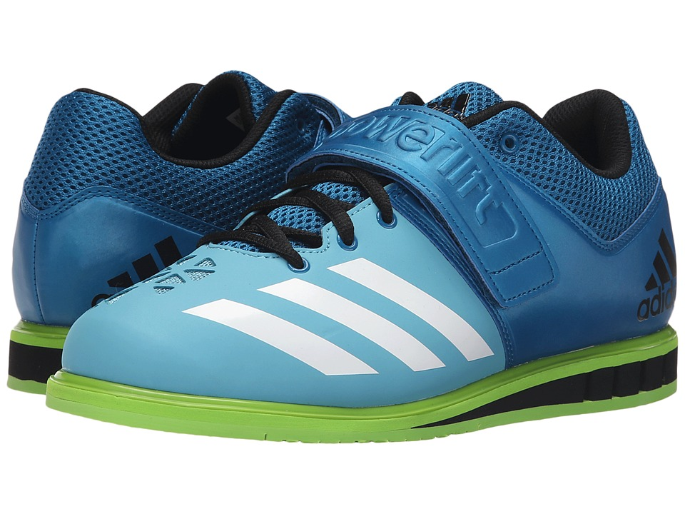 adidas - Powerlift 3 (Unity Blue/White/Semi Solar Green) Men's Shoes