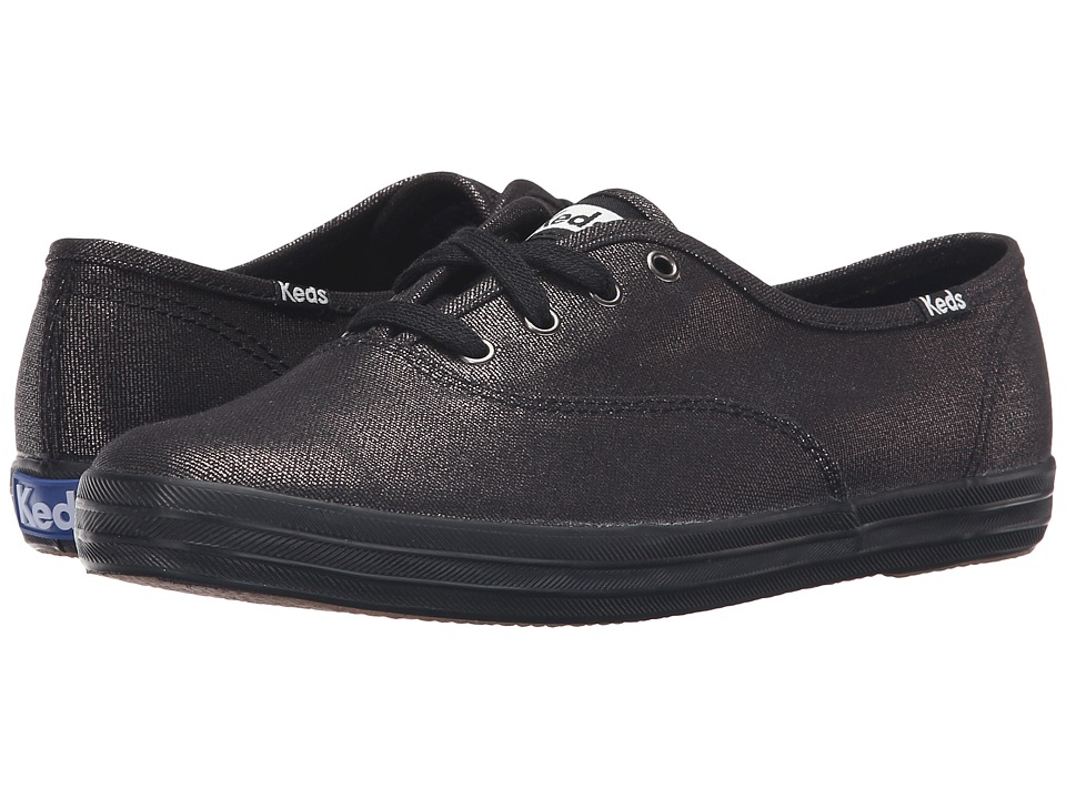 Keds Champion-Metallic Canvas (Black/Black) Women