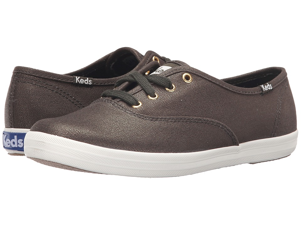 Keds Champion-Metallic Canvas (Forest Green) Women