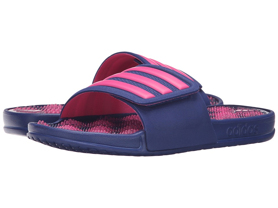 adidas - adissage 2.0 3-Stripes (Unity Ink/Shock Pink) Women's Slide Shoes
