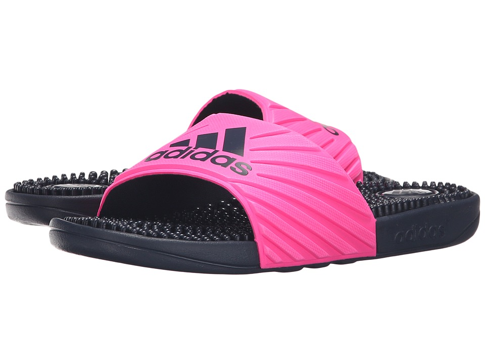adidas - Voloossage (Collegiate Navy/Shock Pink) Women's Slide Shoes
