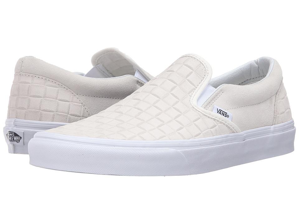 Vans - Classic Slip-On ((Suede Checkers) Blanc de Blanc) Skate Shoes