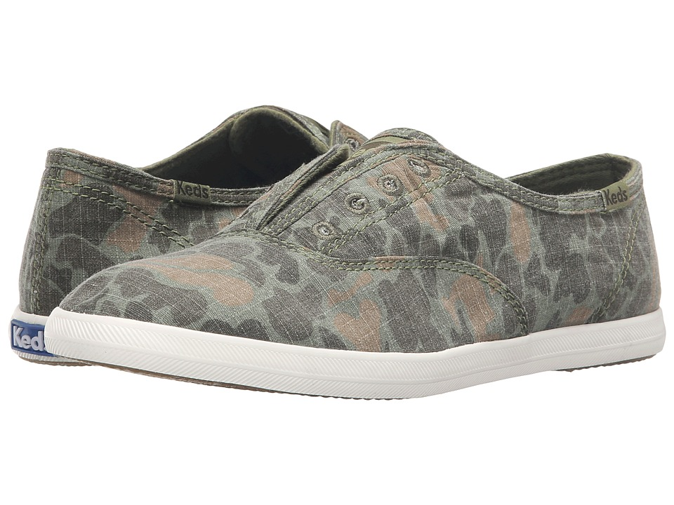 Keds - Chillax Ripstop Camo (Olive Camo) Women's Slip on Shoes