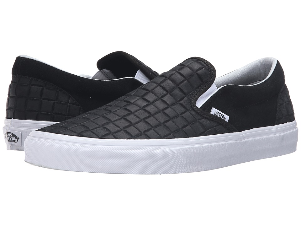 Vans - Classic Slip-On ((Suede Checkers) Black) Skate Shoes