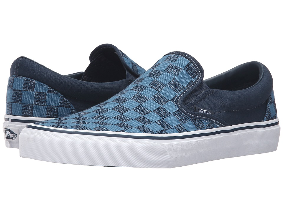 Vans - Classic Slip-On ((Stitch Checkers) Blue Mirage/Midnight) Skate Shoes