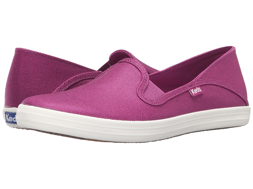 Keds - Crashback Metallic Canvas (Vivid Violet) Women's Slip on Shoes