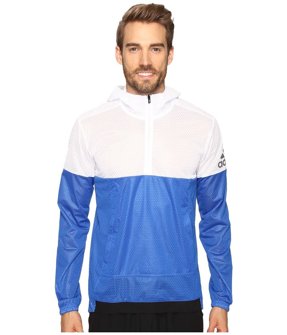 adidas - Climastorm Anorak (White/Blue) Men's Sweatshirt