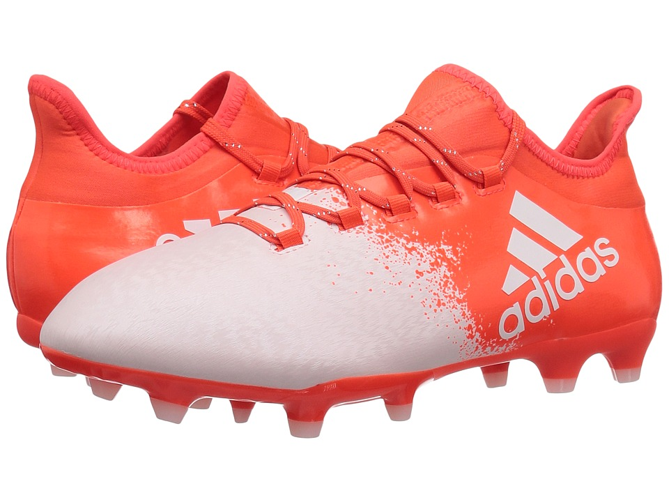 adidas - X 16.2 FG (White/Solar Red) Women's Cleated Shoes