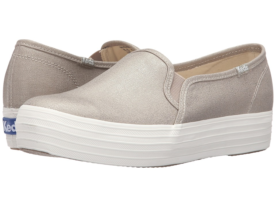 Keds - Triple Decker Metallic Canvas (Gold) Women's Slip on Shoes