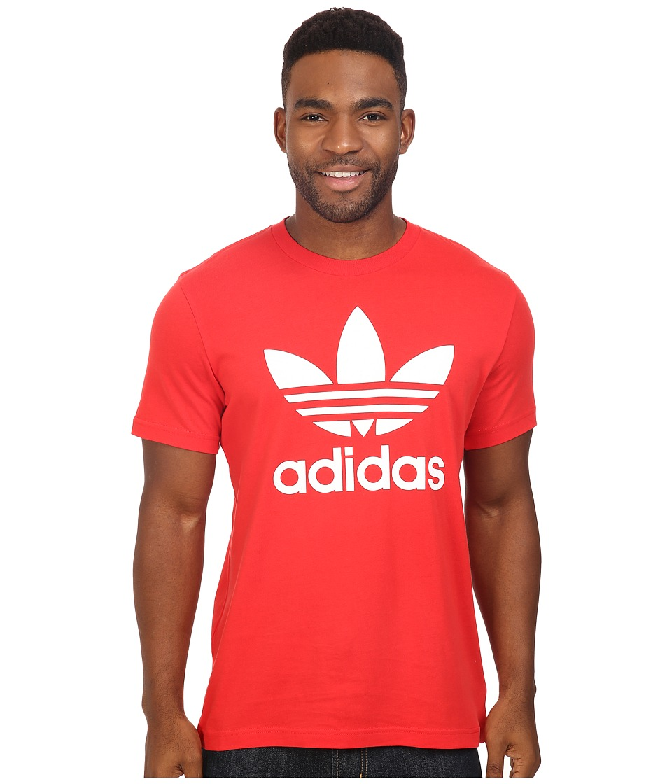 adidas Originals - Originals Trefoil Tee (Vivid Red/White) Men's T Shirt