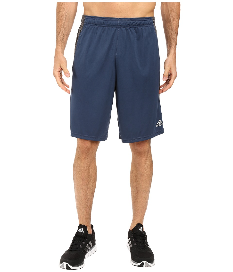 adidas - Aeroknit Decoy Burnout Shorts (Mineral Blue/Black) Men's Shorts