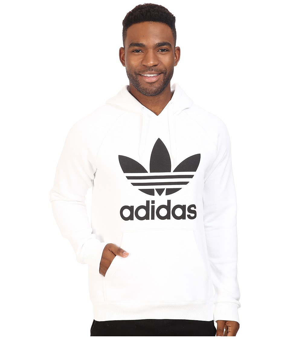 adidas Originals - Trefoil Hoodie (White/Black) Men's Sweatshirt