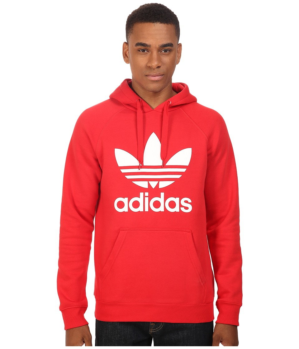 adidas Originals - Trefoil Hoodie (Vivid Red/White) Men's Sweatshirt