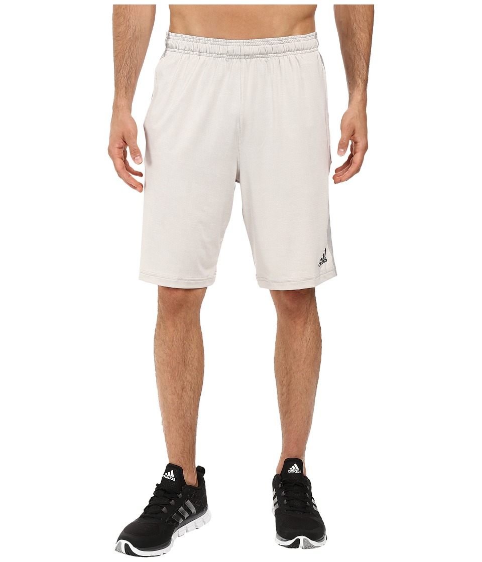 adidas - Team Issue 3-Stripes Heather Shorts (Light Grey Heather) Men's Shorts