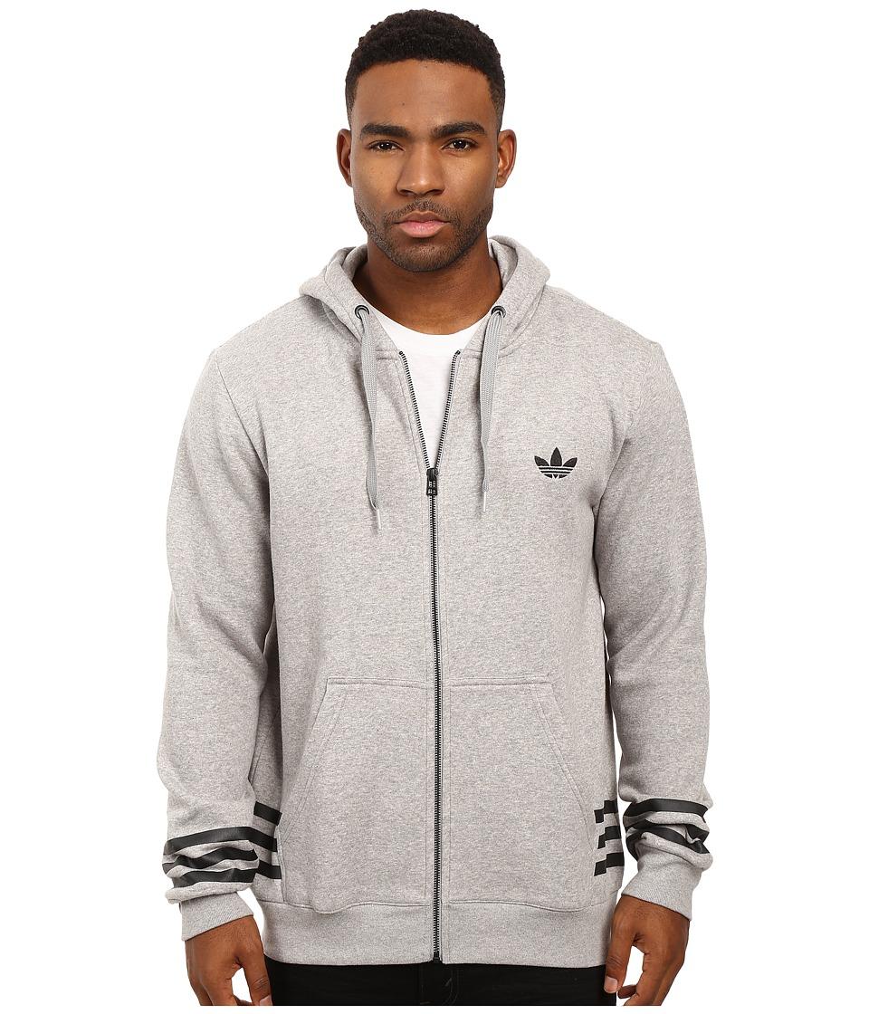 adidas Originals - Street Graphic Full-Zip Hoodie (Medium Grey Heather) Men's Sweatshirt