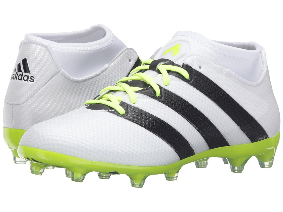 adidas - ACE 16.2 Primemesh FG (White/Black/Solar Yellow) Women's Cleated Shoes