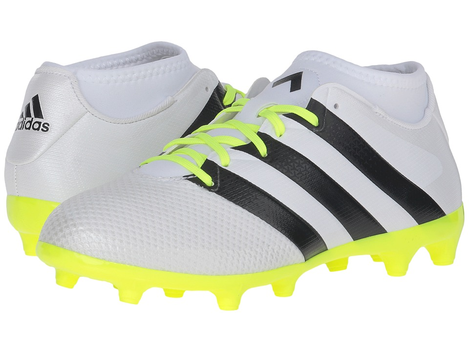 adidas - ACE 16.3 Primemesh FG (White/Black/Solar Yellow) Women's Cleated Shoes