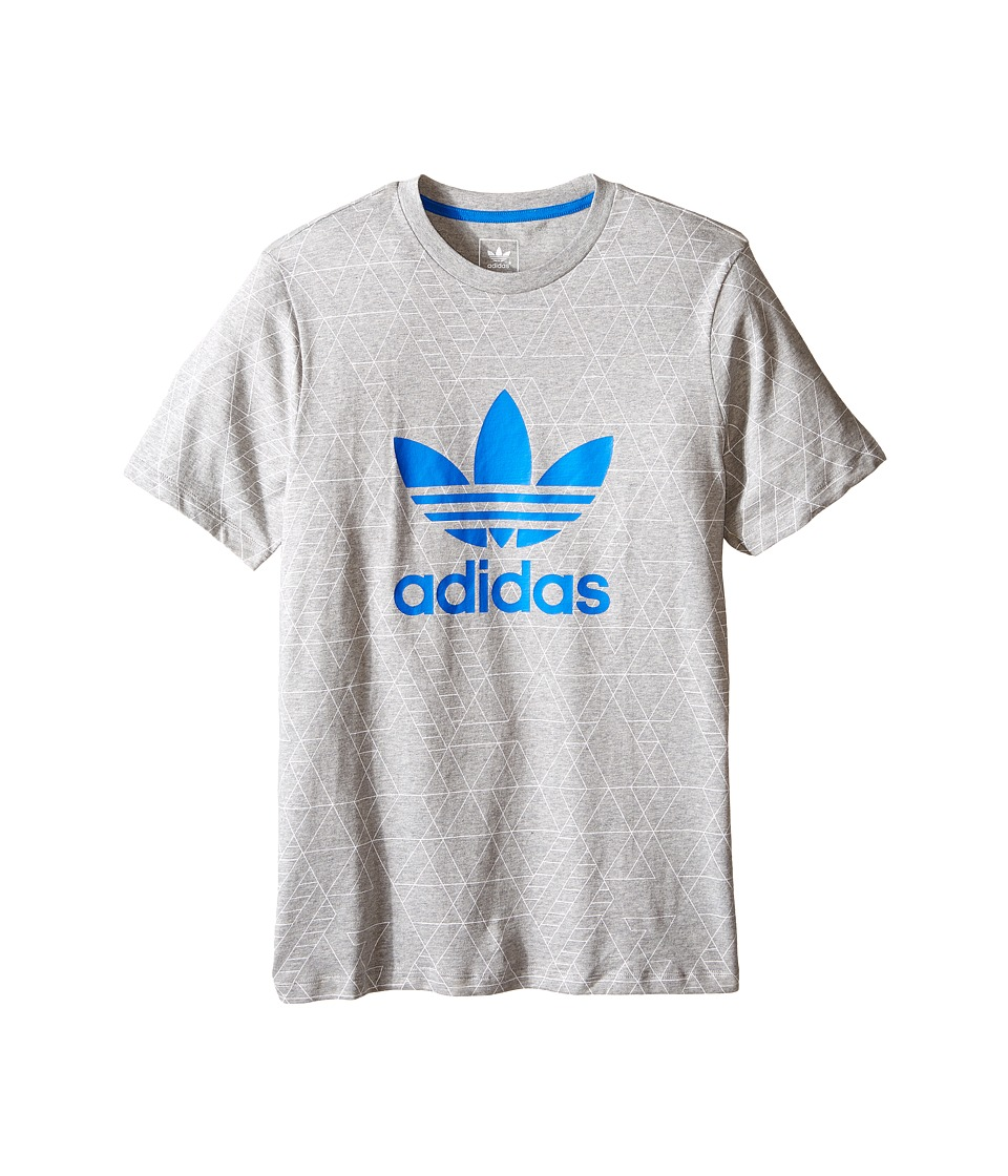 adidas Originals Kids - Tech Pocket Tee (Little Kids/Big Kids) (Medium Grey Heather/White/Bluebird) Boy's T Shirt