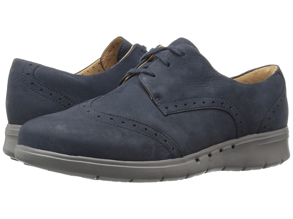 Clarks - Un Hinton (Navy Nubuck) Women's Shoes