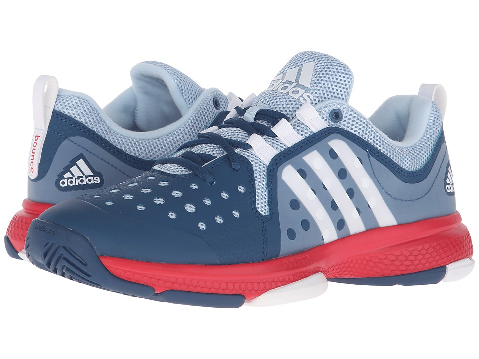 adidas - Barricade Classic Bounce (Tech Steel/White/Ray Red) Women's Running Shoes