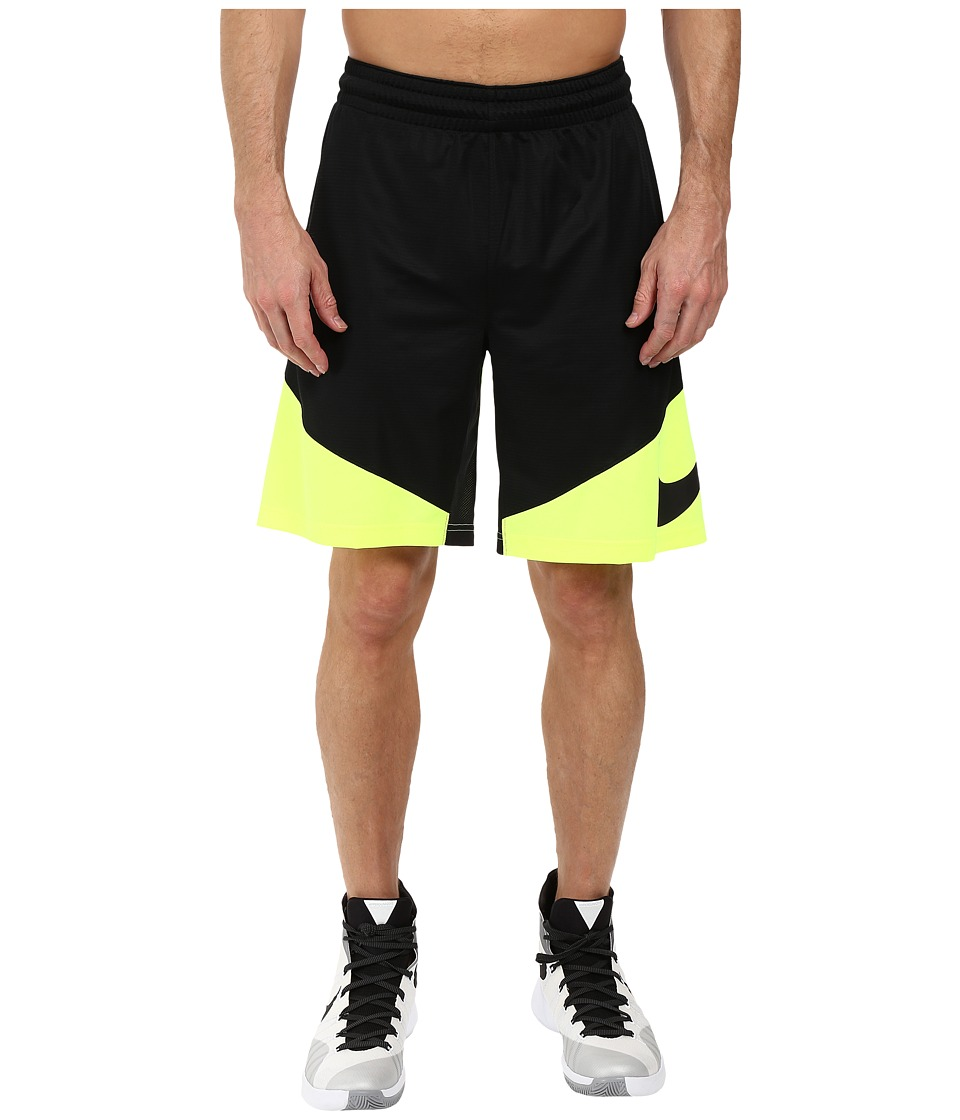 Nike - HBR Shorts (Black/Volt/Volt/Black) Men's Shorts
