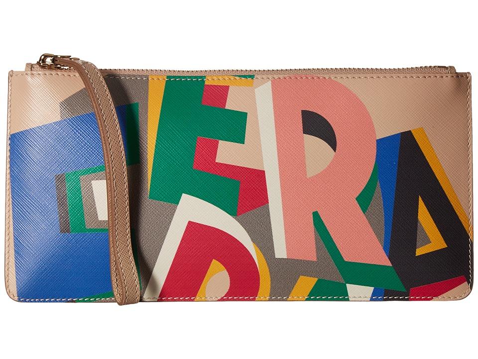Salvatore Ferragamo - 22C452 Wristlet (New Bisque/Macadamia) Wristlet Handbags
