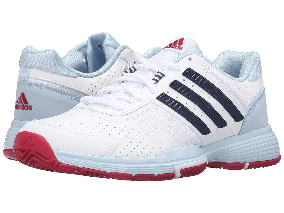 adidas - Barricade Court 2 (White/Collegiate Navy/Ice Blue) Women's Shoes