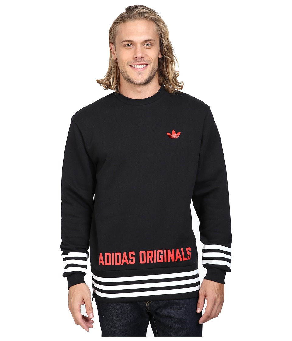 adidas Originals - Street Graphic Crew (Black) Men's Sweatshirt