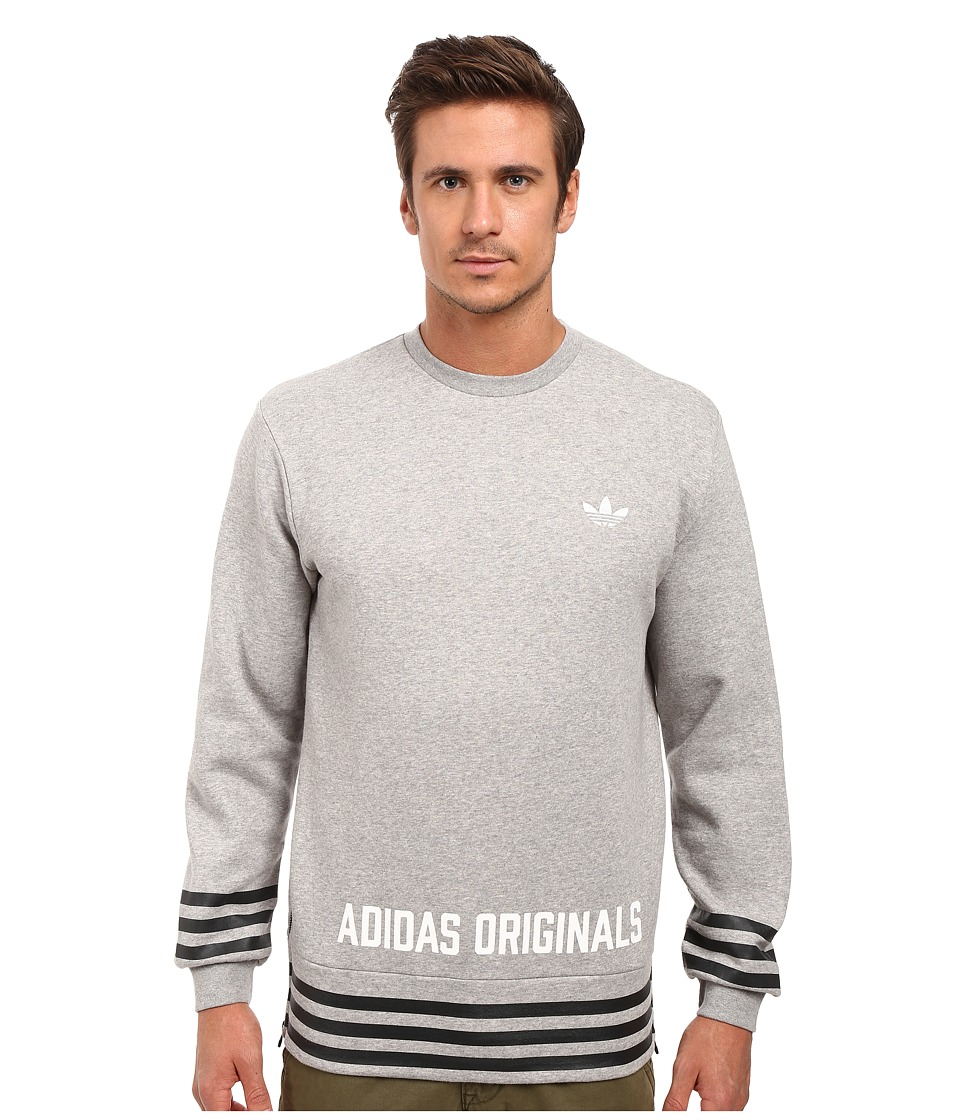 adidas Originals - Street Graphic Crew (Medium Grey Heather) Men's Sweatshirt