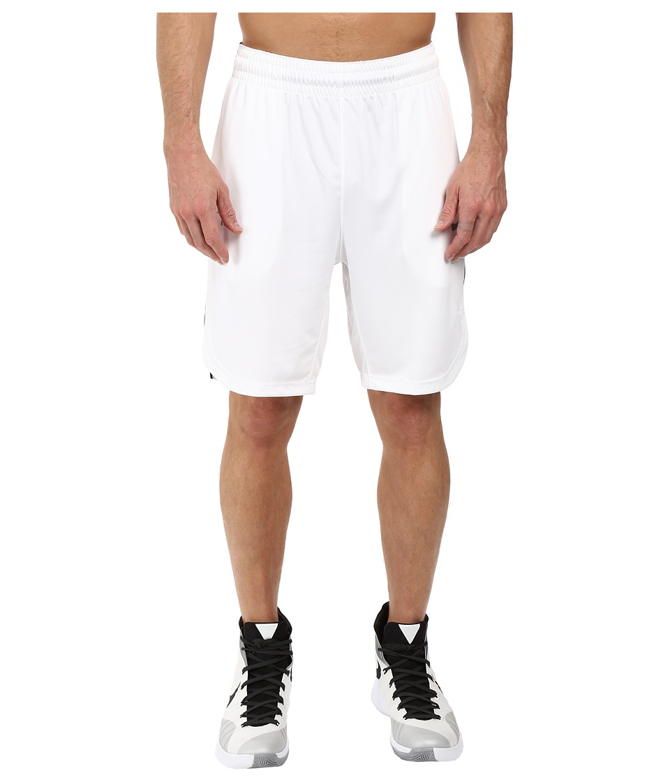 Nike Elite Basketball Short (White/Black/Wolf Grey/Matte Silver) Men