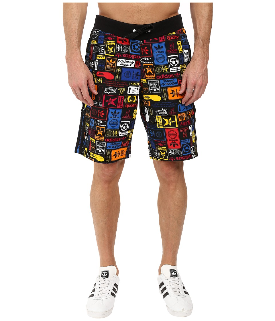 adidas Originals - Multicolor Shorts (Black) Men's Shorts