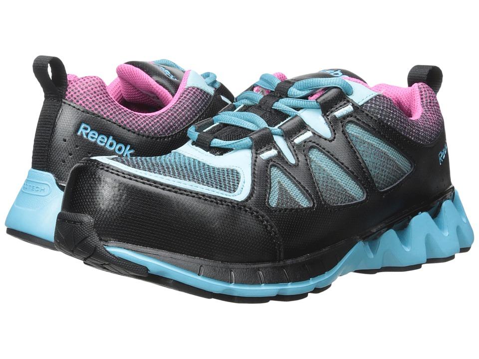 Reebok Work - Zigkick Work (Black/Blue/Pink) Women's Work Boots