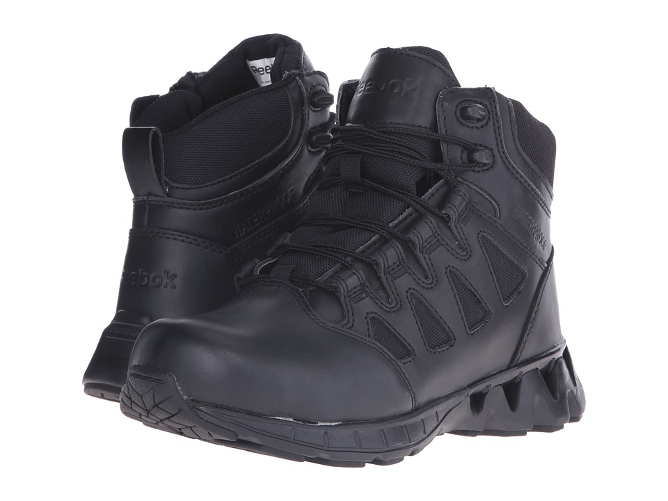 Reebok Work - Zigkick Tactical Waterproof (Black) Women's Work Boots