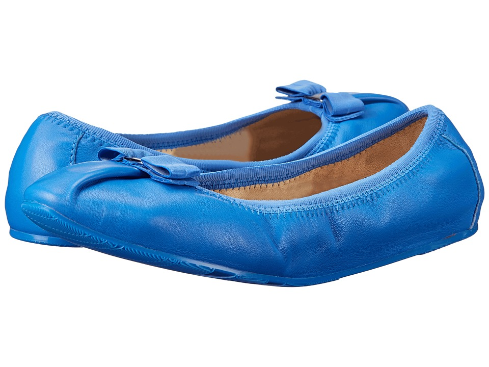 Salvatore Ferragamo - My Joy (Bleu Indien Nappa Leather) Women's Dress Flat Shoes