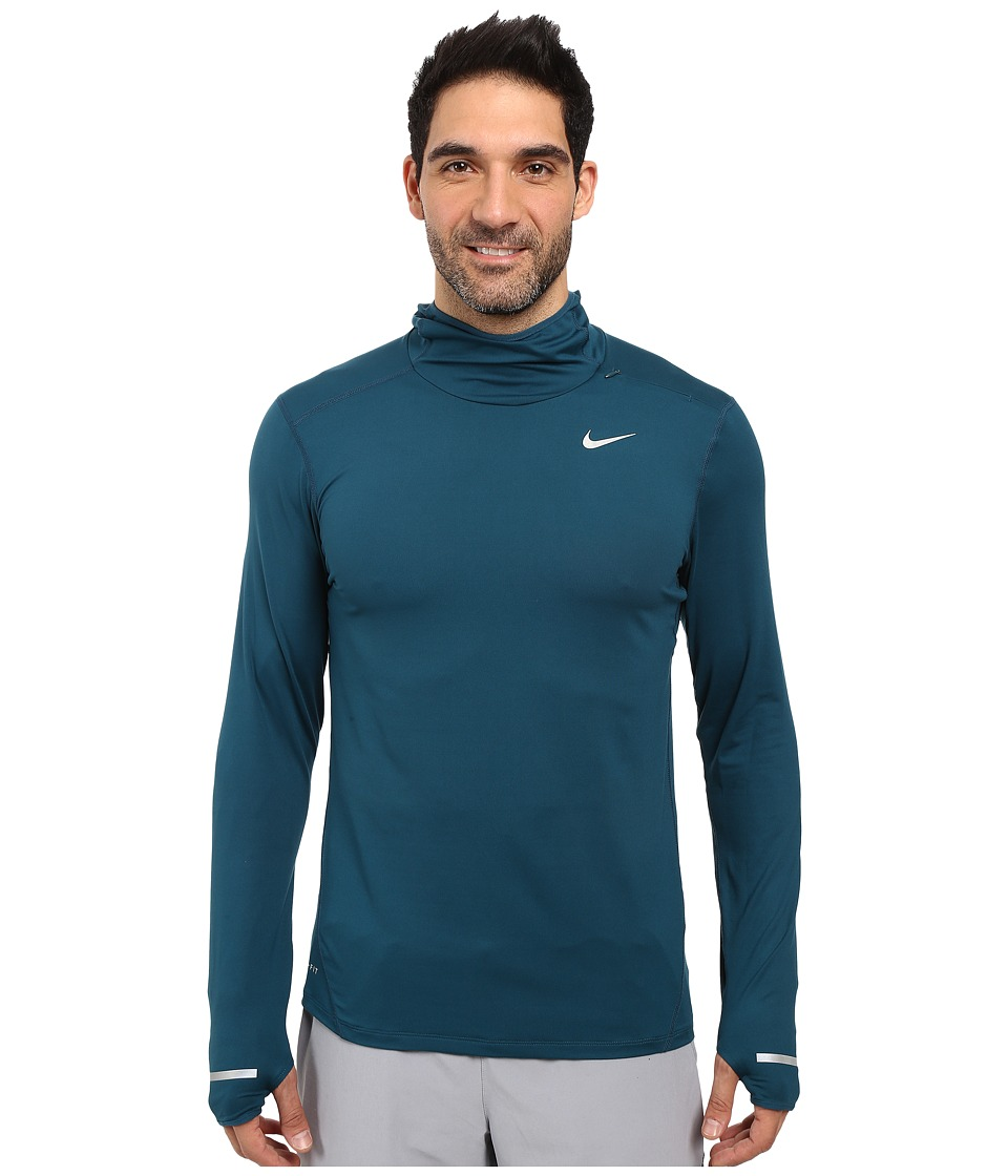 Nike - Dry Element Running Hoodie (Midnight Turquoise/Reflective Silver) Men's Sweatshirt