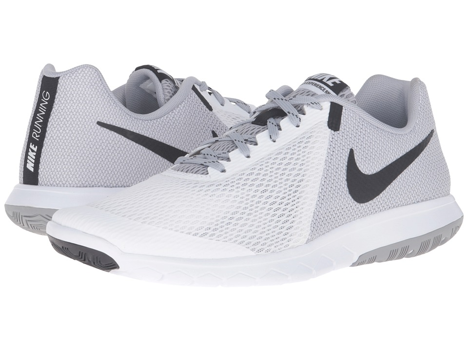 Nike - Flex Experience RN 5 (White/Black/Wolf Grey) Men's Running Shoes