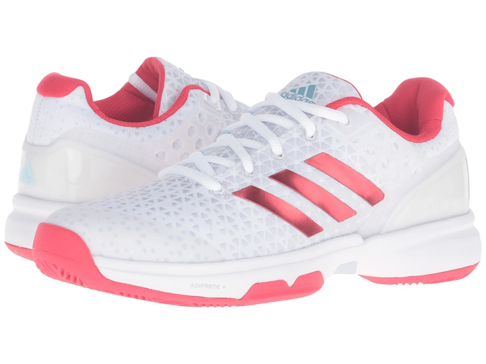 adidas - Adizero Ubersonic 2 (White/Ray Red/Clear Grey) Women's Tennis Shoes