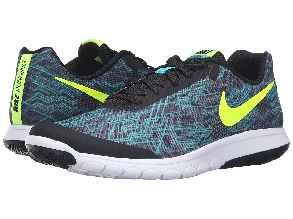 Nike - Flex Experience RN 5 Premium (Black/Volt/Clear Jade/White) Men's Running Shoes
