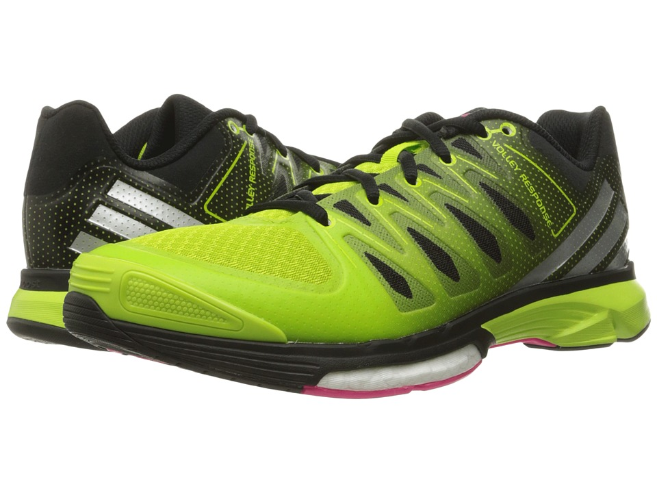 adidas - Volley Response Boost 2.0 (Semi Solar Slime/Matte Silver/Black) Women's Volleyball Shoes