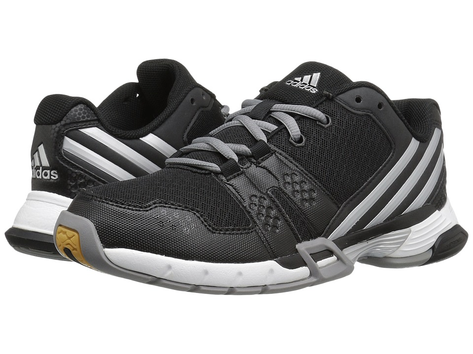 adidas - Volley Team 4 (Black/Matte Silver/Grey) Women's Volleyball Shoes