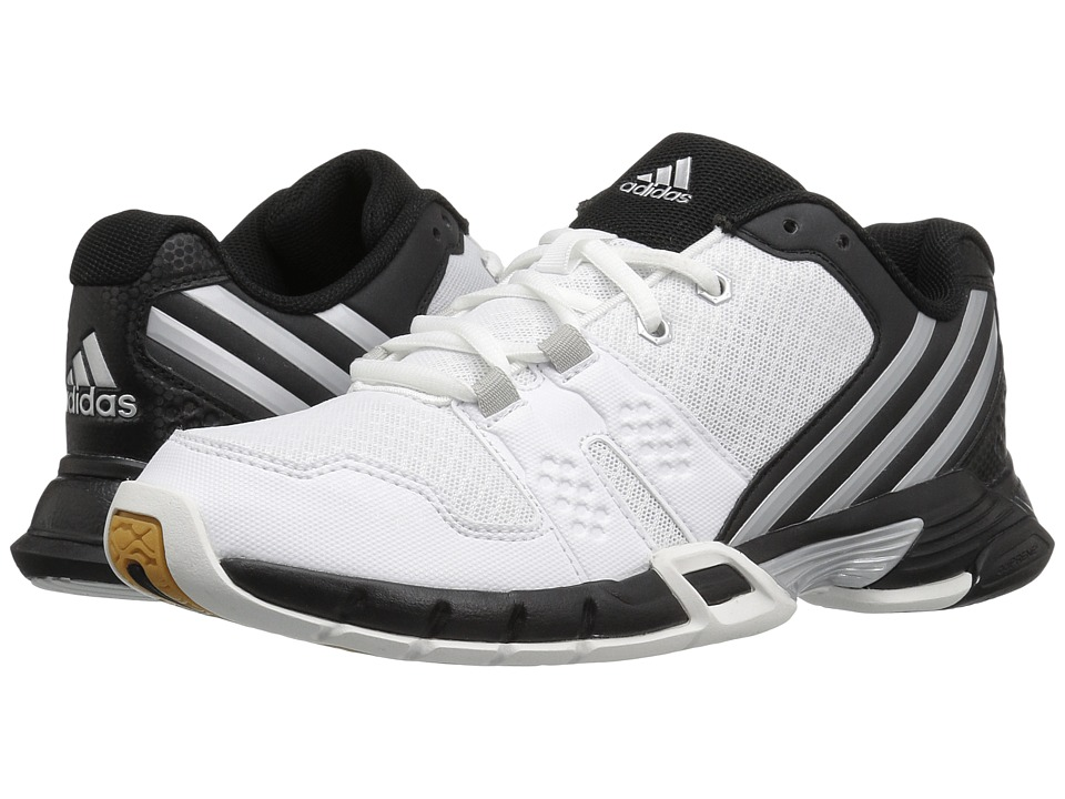 adidas - Volley Team 4 (White/Matte Silver/Black) Women's Volleyball Shoes